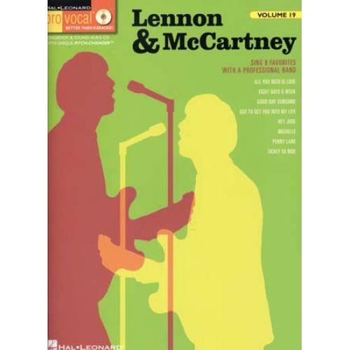 HAL LEONARD LENNON & McCARTNEY - PRO VOCAL VOL.19 + CD - PAROLES ET ACCORDS