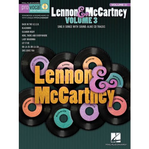 HAL LEONARD PRO VOCAL MENS EDITION VOLUME 21 - LENNON AND MCCARTNEY VOLUME 3 + CD - VOICE