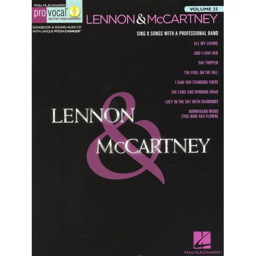 HAL LEONARD PRO VOCAL VOLUME 25 - LENNON AND MCCARTNEY VOL 4 MENS EDITION + CD - VOICE