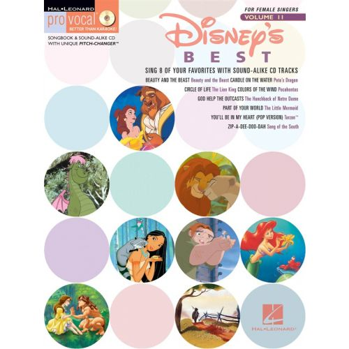 HAL LEONARD DISNEY - BEST FOR FEMALE SINGERS + CD