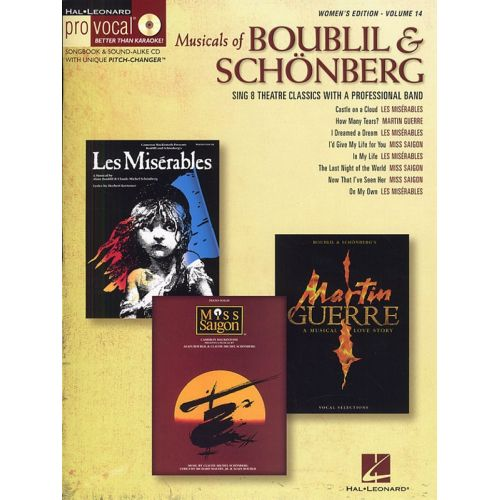 HAL LEONARD PRO VOCAL VOLUME 14 - MUSICALS OF BOUBLIL AND SCHONBERG FEMALE + CD - VOICE