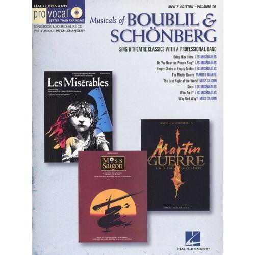 HAL LEONARD MUSICALS OF BOUBLIL AND SCHONBERG - MEN'S EDITION VOLUME 18 + CD - TENOR