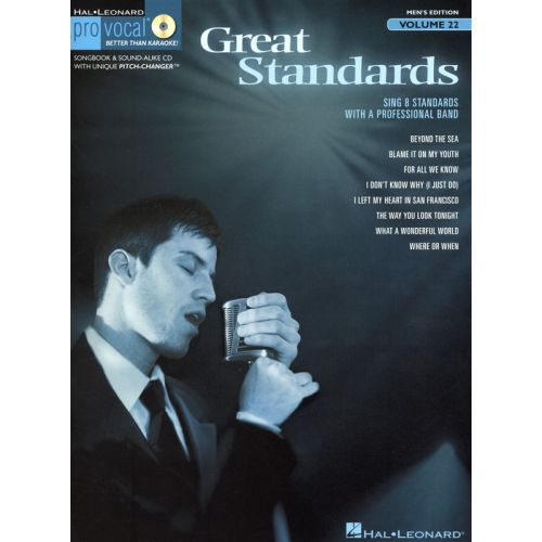 HAL LEONARD PRO VOCAL VOLUME 22 - MENS EDITION GREAT STANDARDS VOICE + CD - VOICE