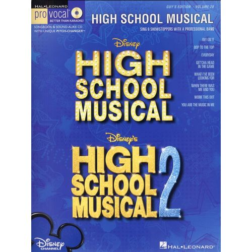 HAL LEONARD PRO VOCAL VOLUME 28 HIGH SCHOOL MUSICAL + CD - VOICE