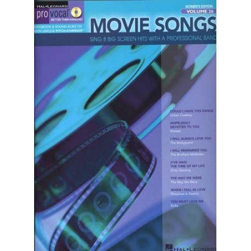 HAL LEONARD PRO VOCAL VOL.26 - MOVIE SONGS + CD