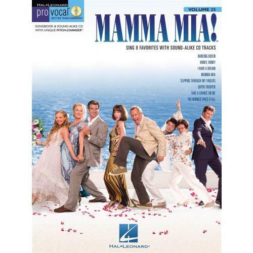 HAL LEONARD PRO VOCAL VOLUME 25 - ABBA WOMEN'S EDITION + CD - VOICE
