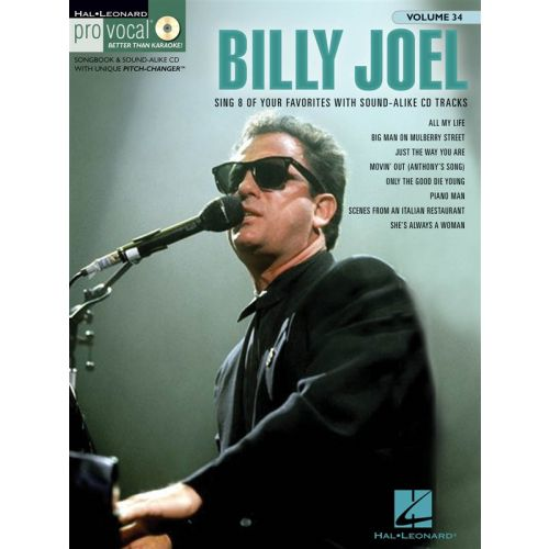 HAL LEONARD PRO VOCAL VOLUME 34 BILLY JOEL MENS EDITION VOICE + CD - MELODY LINE, LYRICS AND CHORDS