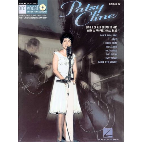 HAL LEONARD PRO VOCAL VOLUME 22 - PATSY CLINE + CD - MELODY LINE, LYRICS AND CHORDS
