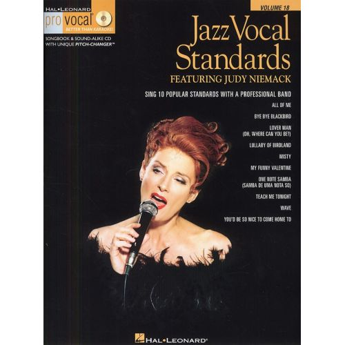 HAL LEONARD JAZZ VOCAL STANDARDS - SING 10 POPULAR STANDARDS WITH A PROFESSIONAL BAND + CD - VOICE