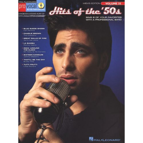 HAL LEONARD PRO VOCAL VOLUME 35 HITS OF THE 50S MENS EDITION + CD - MELODY LINE, LYRICS AND CHORDS