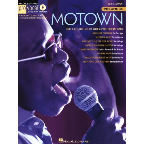 HAL LEONARD PRO VOCAL VOLUME 38 - MOTOWN MEN'S EDITION + CD - VOICE