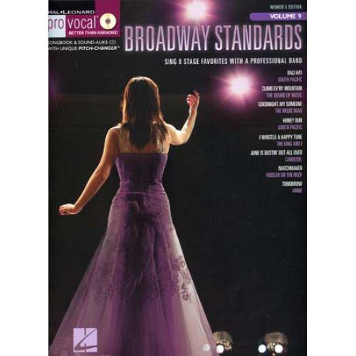 HAL LEONARD PRO VOCAL VOL.9 BROADWAY STANDARDS WOMEN + CD