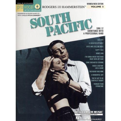 HAL LEONARD PRO VOCAL VOLUME 5 WOMEN/MEN EDITION SOUTH PACIFIC VCE + CD - VOICE