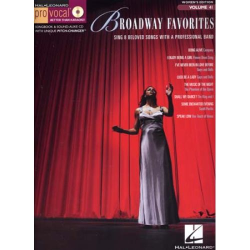 HAL LEONARD PRO VOCAL VOL.41 BROADWAY FAVORITES + CD
