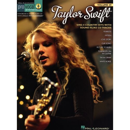 HAL LEONARD TAYLOR SWIFT+ CD - MELODY LINE, LYRICS AND CHORDS