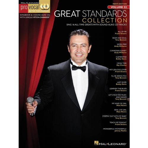 HAL LEONARD PRO VOCAL VOLUME 52 MENS EDITION GREAT STANDARDS - LOW VOICE