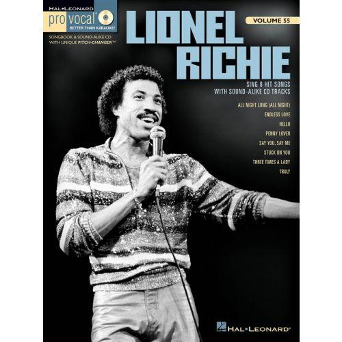 HAL LEONARD PRO VOCAL VOLUME 55 RICHIE LIONEL MENS EDITION + CD - VOICE