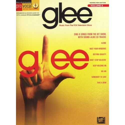 HAL LEONARD PRO VOCAL VOLUME 8 - GLEE MALE AND FEMALE VOICE + CD - VOICE
