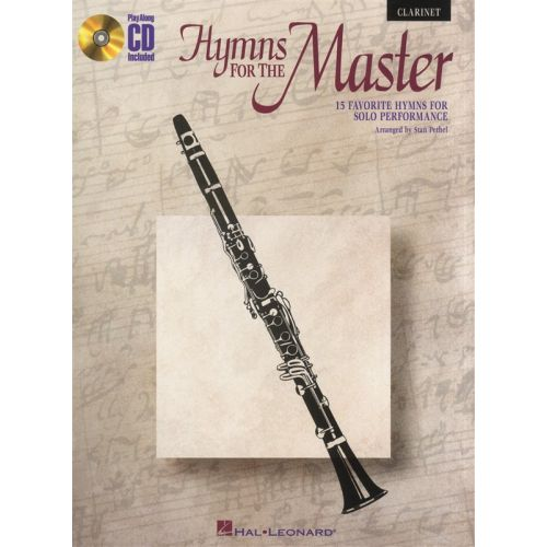 HAL LEONARD INSTRUMENTAL PLAY-ALONG HYMNS FOR THE MASTER CLARINET + CD - 1 - CLARINET