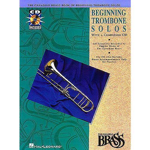 HAL LEONARD CANADIAN BRASS - BOOK OF BEGINNING SOLOS - TROMBONE