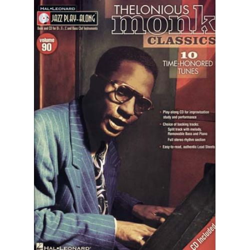 HAL LEONARD THELONIOUS MONK - JAZZ PLAY ALONG VOL.90 + CD - Bb, Eb, C INSTRUMENTS