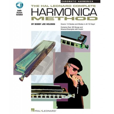 HAL LEONARD THE COMPLETE HARMONICA METHOD CHROMATIC + ONLINE AUDIO - HARMONICA