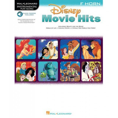 HAL LEONARD DISNEY MOVIE HITS HN + MP3 - FRENCH HORN - HORN