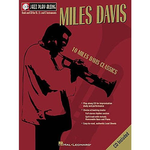 HAL LEONARD JAZZ PLAY ALONG :MILES DAVIS VOL 2 (POUR VENTS)