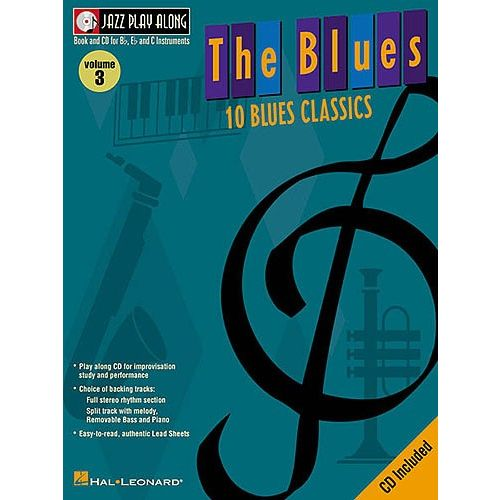 HAL LEONARD JAZZ PLAY ALONG VOL.3 - THE BLUES + CD