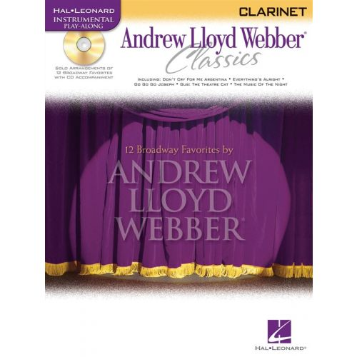 HAL LEONARD ANDREW LLOYD WEBBER - CLASSICS T+ CD - CLARINET