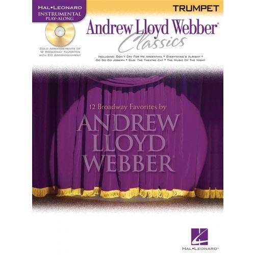 HAL LEONARD ANDREW LLOYD WEBBER CLASSICS - TRUMPET PLAY-ALONG + CD - TRUMPET