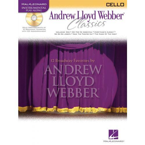 HAL LEONARD WEBBER ANDREW - ANDREW LLOYD WEBBER CLASSICS - CELLO + CD - CELLO