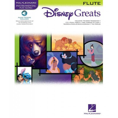 HAL LEONARD DISNEY GREATS FLUTE + MP3