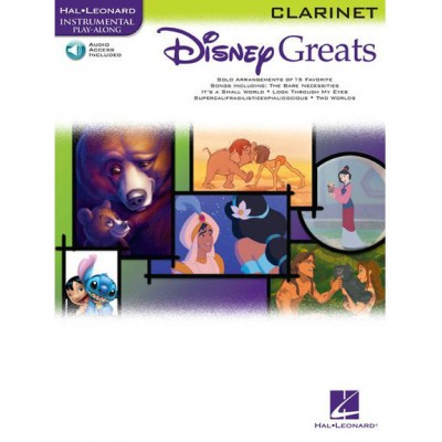 HAL LEONARD DISNEY GREATS CLARINET + MP3