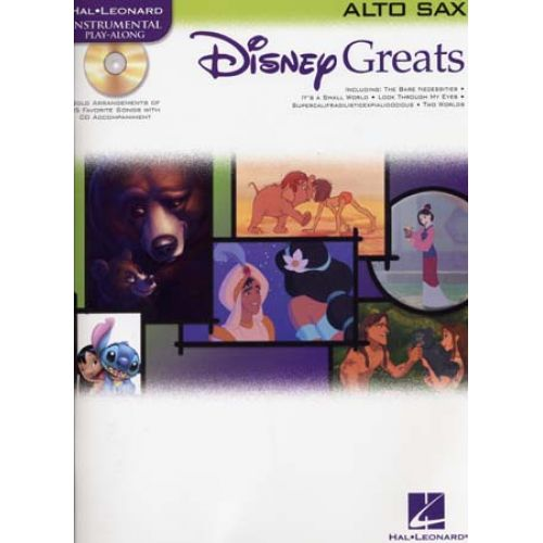 HAL LEONARD DISNEY GREATS ALTO SAX + AUDIO ONLINE