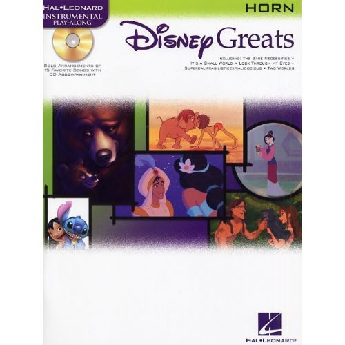 HAL LEONARD DISNEY GREATS + CD - HORN