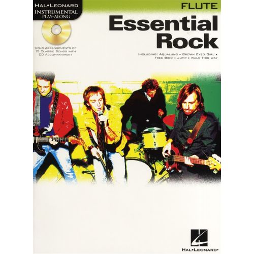HAL LEONARD INSTRUMENTAL PLAY ALONG - ESSENTIAL ROCK - FLUTE