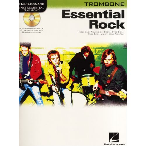 HAL LEONARD INSTRUMENTAL PLAY ALONG - ESSENTIAL ROCK + CD - TROMBONE