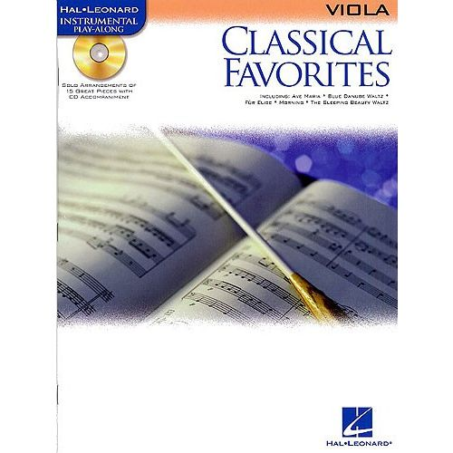 HAL LEONARD CLASSICAL FAVOURITES + CD - VIOLA