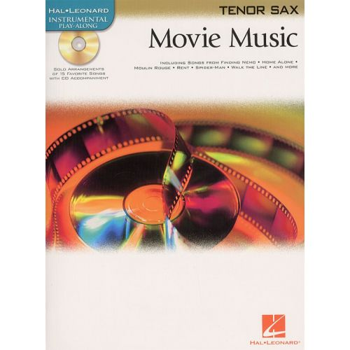 HAL LEONARD INSTRUMENTAL PLAY-ALONG MOVIE MUSIC + CD - TENOR SAXOPHONE