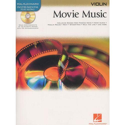 HAL LEONARD MOVIE MUSIC - VIOLIN+ CD - VIOLIN
