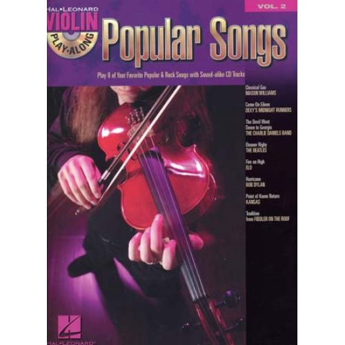 HAL LEONARD VIOLIN PLAY ALONG VOL.2 - POPULAR SONGS + CD - VIOLON