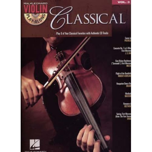 HAL LEONARD VIOLIN PLAY ALONG VOL.3 - CLASSICAL + CD