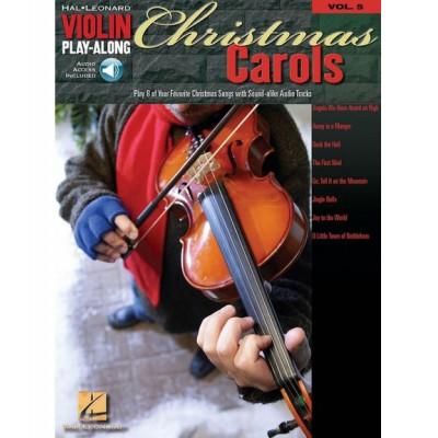 HAL LEONARD CHRISTMAS CAROLS - VIOLIN PLAY-ALONG VOLUME 5 - VIOLIN