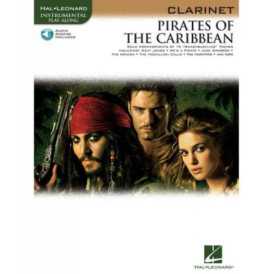 HAL LEONARD PIRATES OF THE CARIBBEAN - INSTRUMENTAL PLAY ALONG + MP3 - CLARINET