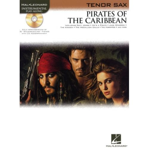 HAL LEONARD KLAUS BADELT PIRATES OF THE CARIBBEAN + CD - TENOR SAXOPHONE