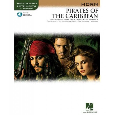 HAL LEONARD KLAUS BADELT PIRATES OF THE CARIBBEAN + MP3 - HORN
