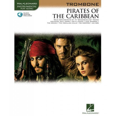 HAL LEONARD KLAUS BADELT - PIRATES OF THE CARIBBEAN + MP3 - TROMBONE