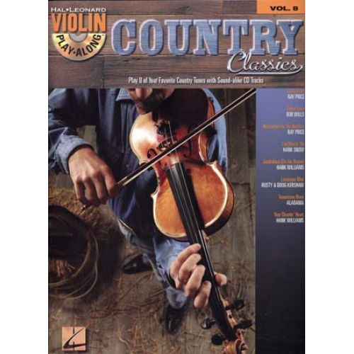 HAL LEONARD VIOLIN PLAY ALONG VOL.8 - COUNTRY CLASSICS + CD