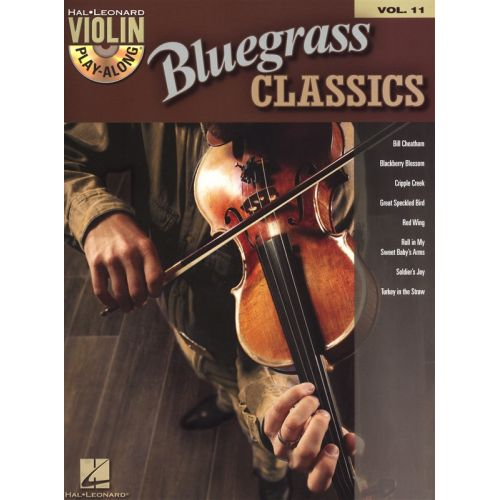 HAL LEONARD VIOLIN PLAY ALONG VOLUME 11 BLUEGRASS CLASSICS + CD - VIOLIN
